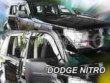 DODGE NITRO 5-portes 2007-2011 Deflecteurs de vent 2-pièces HEKO Bulles