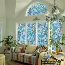 Static Cling Cover Stained Flower Window Film Glass Privacy Home Decor 45*100cm