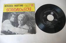 """MIRANDA MARTINO """"SCANDALO AL SOLE -disco 45 giri RCA Italy 1960"""" OST"""