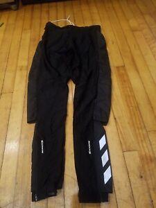 Sugoi MidZero Running Cycling Track Pants Size XL Black Refective Gray