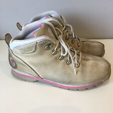 TIMBERLAND Boots Womens Size UK 5 (USA 7M) Pale Skin Beige & Pink Casual Ankle