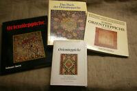4 Sammlerbücher Knüpfteppiche Orientteppiche Antiquitäten Muster Herstellung