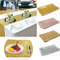 Pailletten Tischläufer 275 x 30 cm Glitzer Hochzeit Weihnachten Neujahr Bankett