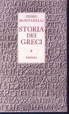 STORIA DEI GRECI (Montanelli - Rizzoli - 1° edizione 1959)