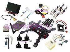 "FPV AV 7"" HD LCD Monitor Camera Set Carbon Fiber Mini QAV250 C250 Quadcopter"