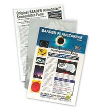 BAADER Planetarium A5 Solar Sheet / Film for Telescopes & Binoculars or Viewer