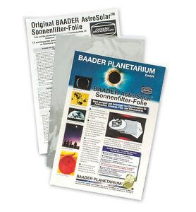 Baader Planetarium A5 solar sheet / film for telescopes & binoculars