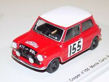 1/43 Spark Morris Mini Cooper Car #155 Monte Carlo Rally 1963 S1190