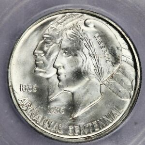 1935-D 1935 Arkansas Centennial half dollar ICG-MS65 Booming luster!