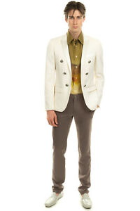 RRP €2780 BALMAIN Wool Blazer Jacket Size 48 / M Silk Blend Lapel Made in Italy