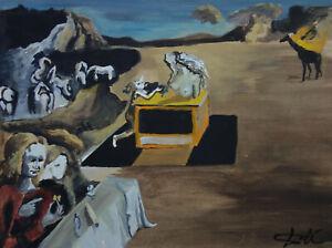 Rare & Unique original oil, painting, signed Salvador Dali w COA, docs.