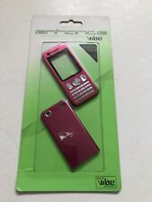 Sony Ericsson W890 Fascia Housing Cover Front Back Metal Case Keypad Pink