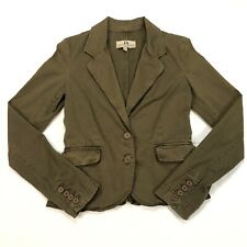 Juicy Couture Jeans Size S Jacket Front Button Long Sleeve Green Blazer Heart