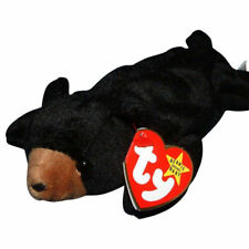 Ty Beanie Baby Blackie The Bear Plush Toy