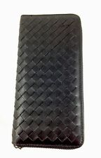 Soft Genuine Leather Luxury Celebrity Lattice Style Purse With Zip And Gift Box