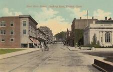 Antique POSTCARD c1907-20 East Main Street Looking East BRISTOL, CT 19259