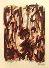 Robert HELMAN Lithographie II 1965 Signée Crayon Hartung Pierre Soulages Etc..