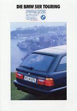 Prospekt mit Aufkleber BMW 5er Touring 1 92 1992 525tds 525iX 525i 520i