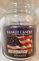 Yankee Candle STARS & STRIPES Medium Jar 14.5 Oz Blue New Wax Patriotic
