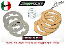 """F1192 - Kit Dischi Frizione con Molla """"NEWFREN"""" per Piaggio Ape P 50 dal 1984"""