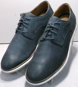 204919 MS50 HOLDEN Men's Shoes Size 11 Navy Leather Lace Up Johnston & Murphy