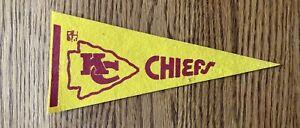 "Vintage 1980s KC Chiefs Football Mini Pennant 9"" Felt"