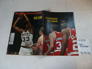 3/9/70 Sports Illustrated NBA Bucks Kreem Golf Horses Hurricane Ford Thunderbird