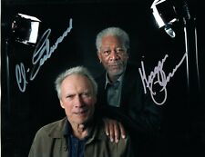 CLINT EASTWOOD AND MORGAN FREEMAN PHOTO HAND SIGNED WITH COA - MOVIE STARS