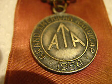 Rare Ohio 1954 Ata trap shoot ribbon / medal, Handicap to Dr. Samuel Rizzotte
