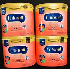 4 Enfamil A.R. Reduce Spit Up Baby Formula Powder 21.5oz (1.34LB) Tub Infant