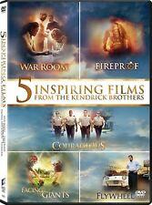 Kendrick Brothers 5 Inspiring Christian Courageous Fireproof Giants DVD Set Film