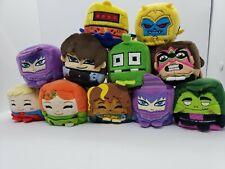 Mixed Crossy Road Power Rangers DC Kawaii Cubes Set of 11 Mini Plush 2' Dolls