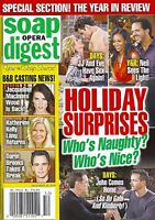 Soap Opera Digest Magazine December 29 2014 Year In Review Brandon Barash