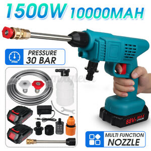 Electric Cordless Pressure Cleaner Washer Gun Water Hose Cleaning For Makita 18