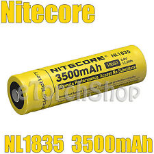 NiteCore 1x NL1835 3500mAh Protected 3.6v 18650 Rechargeable Li-ion Battery
