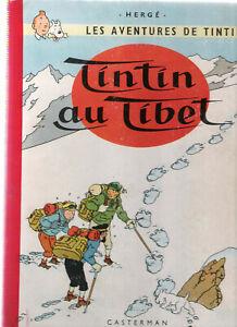 RARE-BD TINTIN  AU TIBET - Hergé-éd..B 29 1960