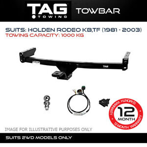 TAG Towbar Fits Holden Rodeo 1981 - 2003 Towing Capacity 1000Kg 4x4 4WD Exterior