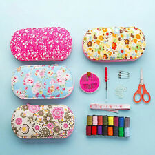 Sewing Tools Kit Portable Mini Travel Case Colors Needle Thread DIY Home Set