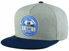 Star Wars Two-toned Marbled Snapback Cap Hat Gray, Blue R2-D2 BNWT