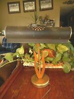 MCM Mid Century Vintage wood metal Desk Lamp Table Works Retro Antique 40's 50's