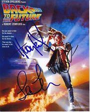 MICHAEL J. FOX HUEY LEWIS LEA THOMPSON signed autograph BACK TO THE FUTURE photo