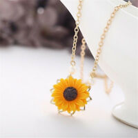 Women Chic Pearl Sunflower Necklace Chain Collar Clavicle Choker Party Jewelry