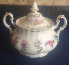 Royal Albert Flowers Of The Month Lidded Sugar Bowl 1984
