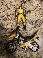2002 Power Rangers Ninja Storm Yellow Ranger Tsunami Cycle Motorcycle & Figure