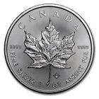 1 ONZA PLATA 999 MONEDA DE Canadá Hoja arce 2017 5CAD Royal Canadian Mint