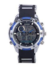 Orologio Polso Uomo Analogico Digitale Multifunzione XXL Quamer Military Blu lac