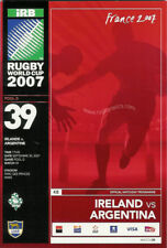 IRELAND v ARGENTINA RUGBY WORLD CUP 2007 PROGRAMME