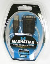 205146 MANHATTAN USB to Serial (RS-232)Converter Cable, Work with Win 7/XP/Vist