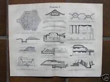 Old print Vestingbouw festungsbau bouwkunde fort 1897