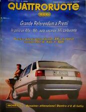 Quattroruote 428 1991 Poster Citroen ZX. Al volante Jaguar XJ-S 4.0 [Q.12]